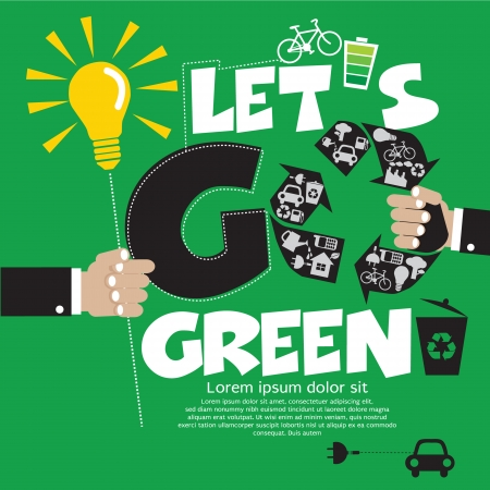 Go Green Vector Illustration Concept EPS10 Vector