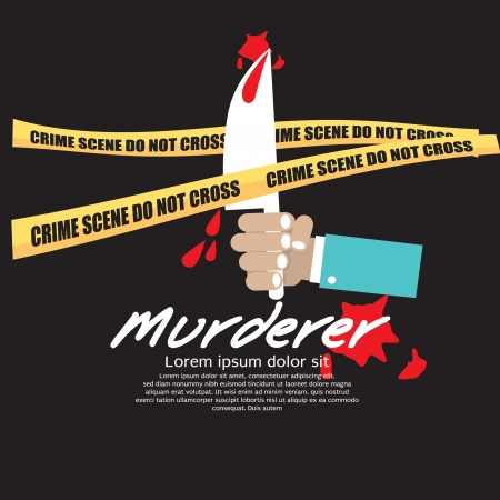 Crime Scene Vector Illustration EPS10 Vettoriali
