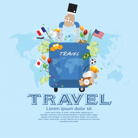 Travel Vector Illustration Concept EPS10 Vector