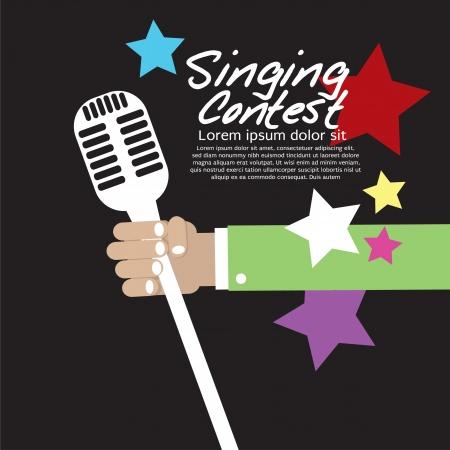 cantando: Singing Contest Conceptual vector EPS10 Vectores