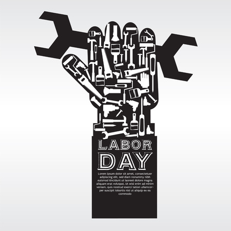 labor strong: Labor Day Vector Illustration Conceptual EPS10  Illustration