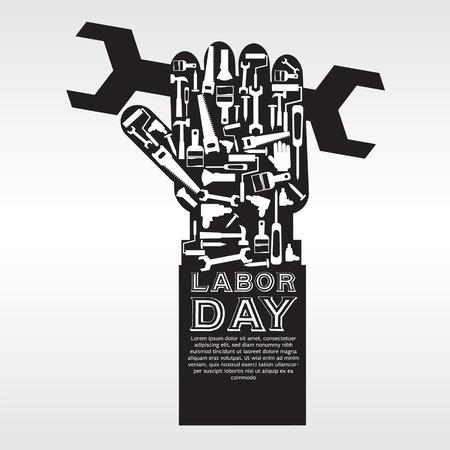 Labor Day Vector Illustration Konzeptionelle EPS10