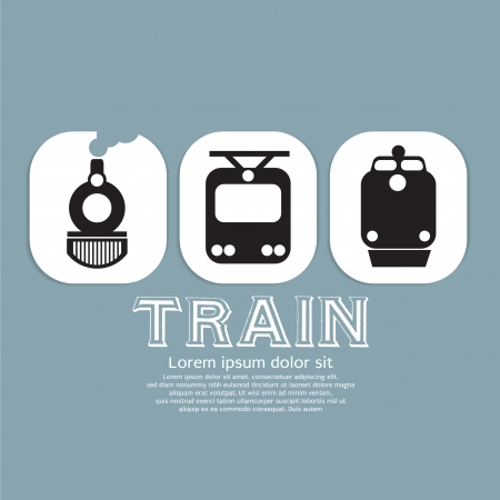 Vintage Train Collection Vector Illustration EPS10