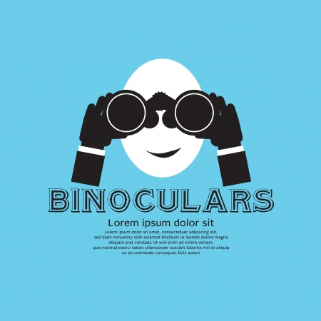 Binocular Vector Illustration EPS10  Vector