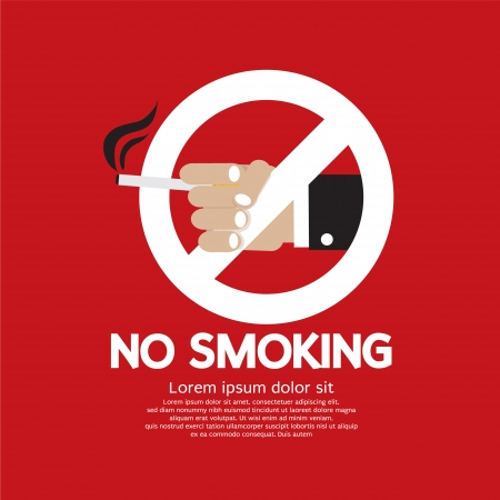 abstain: No Smoking Vector Illustration EPS10