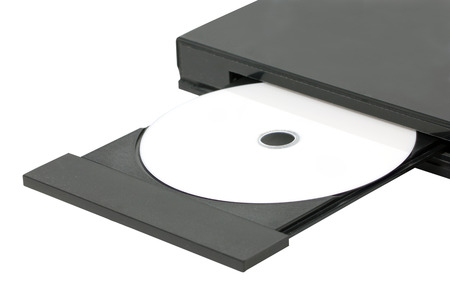 Close up DVD In Open Tray Stock Photo - 22588032