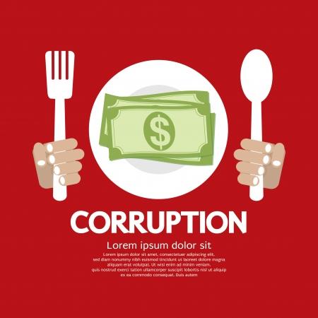 bribe: Corruption Vector Illustration  Illustration