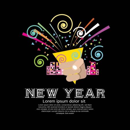 confetti: Popper Party Vector Illustration  Illustration