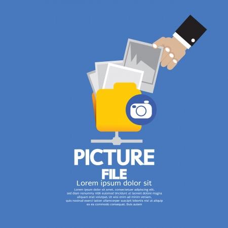 Picture File Storage Vector Illustration  Vector
