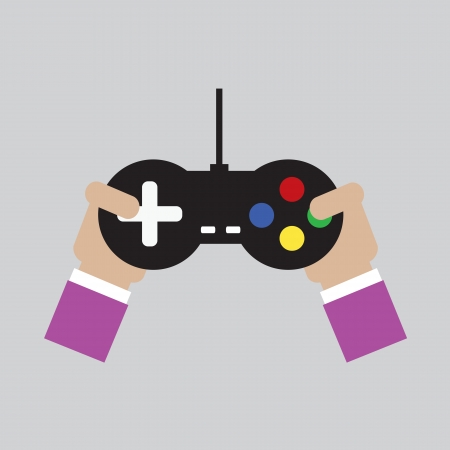 game pad: Game Playing Vector Illustration  Illustration