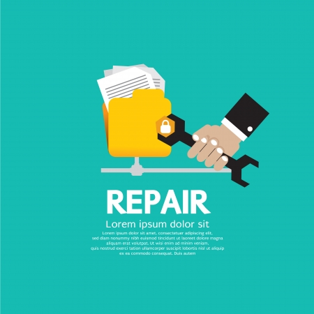repair computer: epair Folder Illustration