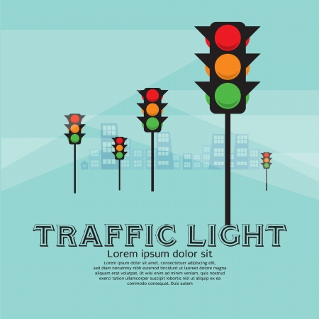 Traffic Light Illustration  Vector