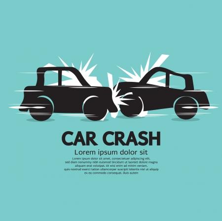 車のクラッシュの図