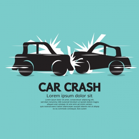 Car Crash Illustration  Vector