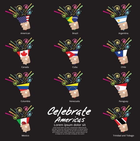 americas: Celebrate Americas Vector Illustration EPS10