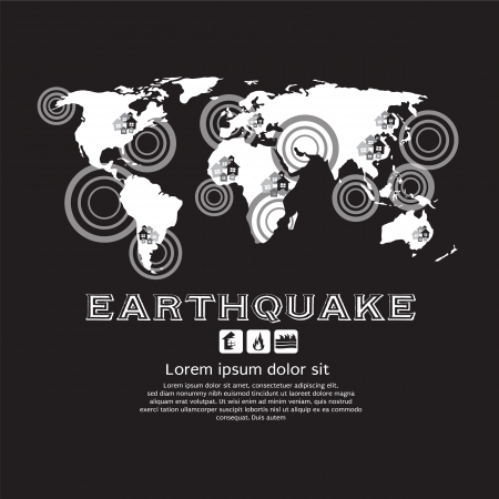 Earthquake Vector Illustration EPS10  Vector