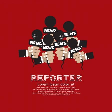 entrevista: Periodista Concept Ilustraci�n Vector