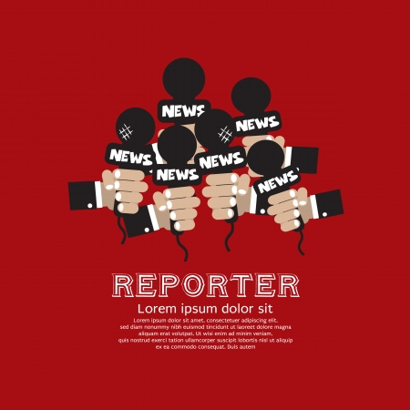 journalists: Reporter Concept Vector Illustration  Illustration