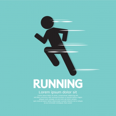 Running Vector Illustration  Vector
