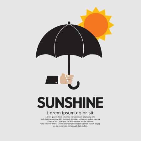 sun umbrella: Hand Holding Umbrella  Under The Sun