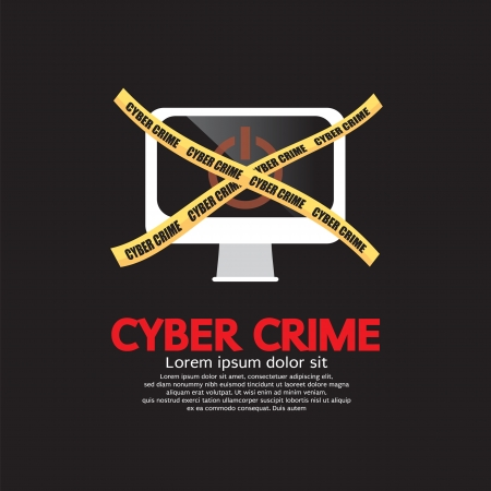 scammer: Cyber Crime Concept Vector Illustration EPS10