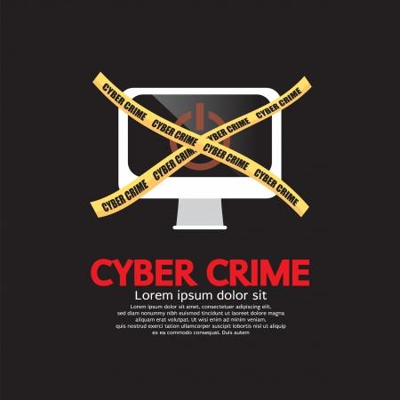 spyware: Ilustraci�n Delito Cibern�tico Concept Vector EPS10