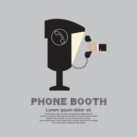 cabina telefono: Ilustraci�n Tel�fono p�blico Cabina Vector EPS10