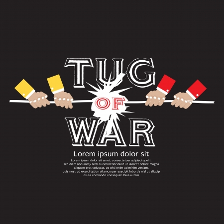tug of war: Tug Of War Vector Illustration EPS10 Illustration