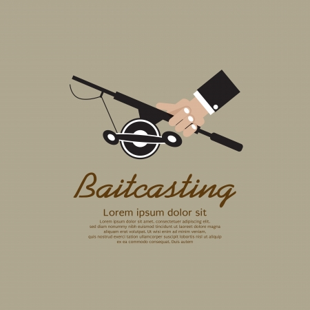 Fishing Rod In Hand Vector Illustration EPS10  Vector