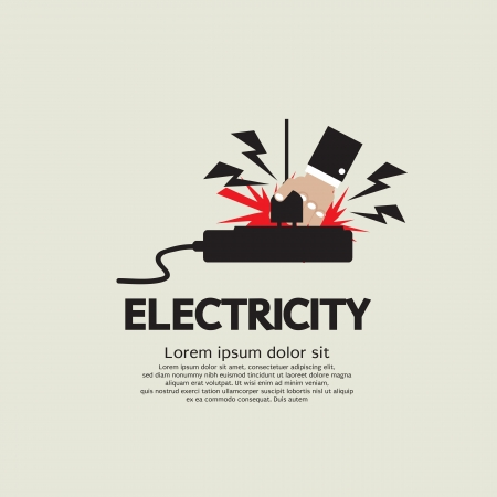 Electric Shock Vector Illustration EPS10  Illustration