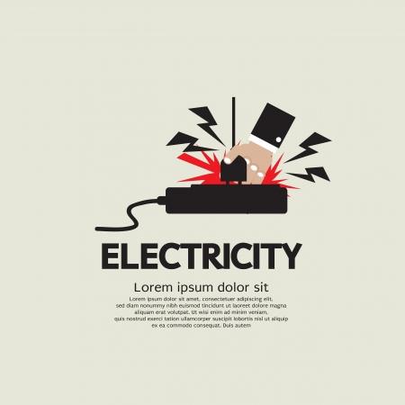 descarga electrica: Ilustración de la descarga eléctrica del vector EPS10
