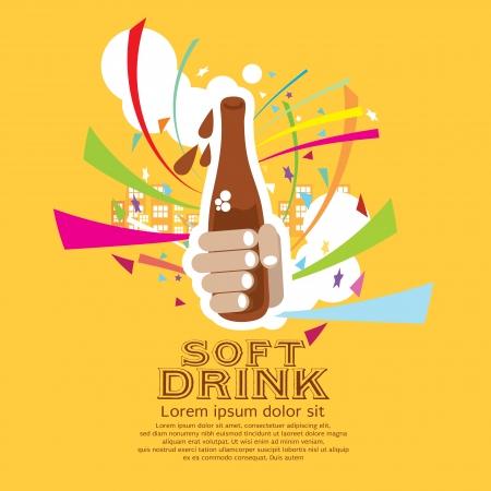 soft drinks: Soft Drink Vector Illustration EPS10  Illustration