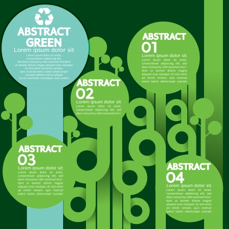 Green Concept Infographic  Vector