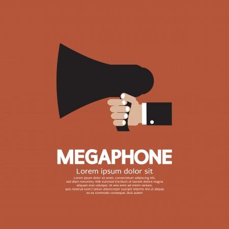 Hand Holding A Megaphone  Illustration