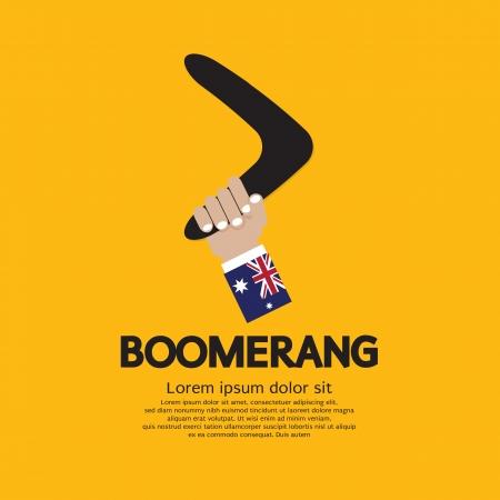 boomerang: Hand Holding A Boomerang