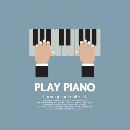 tocando el piano: Mano que juega el piano