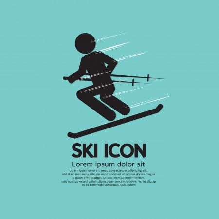 Ski Icon Vector Illustration  Vector