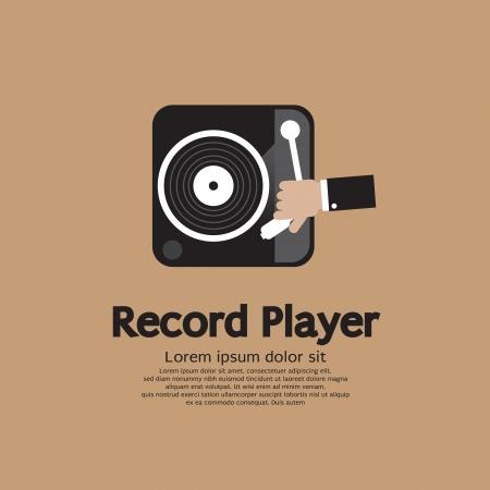 vinyl disk player: Record Player Vector Illustration  Illustration
