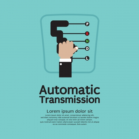 automatic: Automatic Transmission Vector Illustration  Illustration