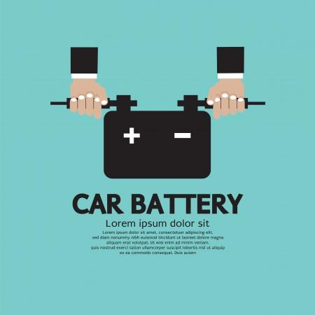 Car Battery Vector Illustration Vector