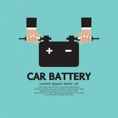 alkaline: Car Battery Vector Illustration Illustration