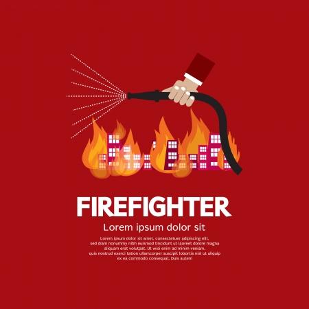 Firefighter Vector Illustration