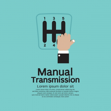 Manual Transmission Vector Illustration