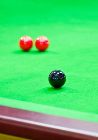 bola de billar: Bolas de billar sobre la tabla