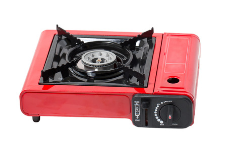 Portable Gas Stove Isolated on White  photo