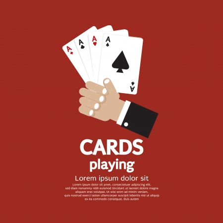 aces: Card Playing Vector Illustration