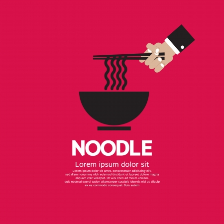 asian noodle: Noodles Vector Illustration