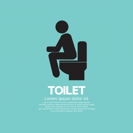 urinate: Ilustraci�n vectorial Toilet Vectores