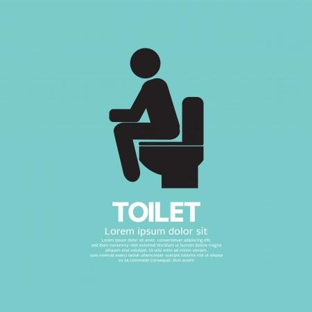 inodoro: Ilustración vectorial Toilet Vectores