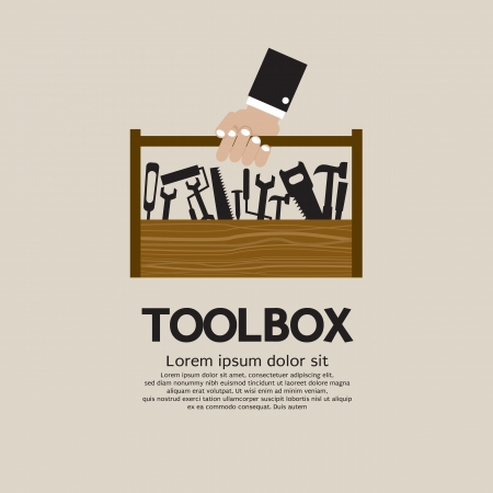 mechanic tools: Hand Holding A Mechanic Toolbox
